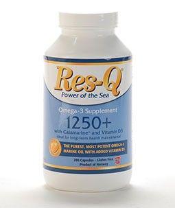 Omega-3 EPA & DHA Fish Oil & Vitamin D | Res-Q 1250+, 200 Softgels