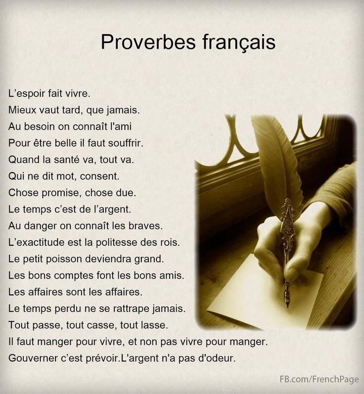 Proverbes francais www.tutorbuddies.com