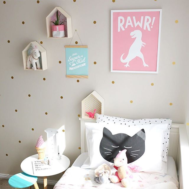 Cool vibes only in this toddler girl room.