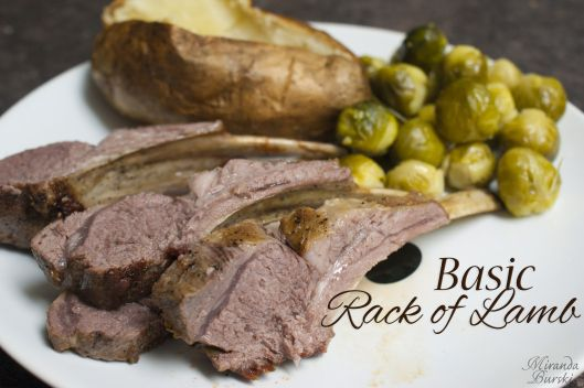 Basic Rack of Lamb: Rack of lamb is a lot easier to make then you may realize. This recipe sticks to the basics: minimal seasoning, a quick sear, and some time in the oven.