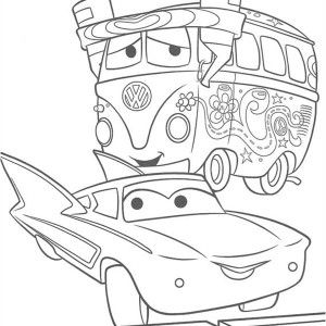 Fillmore and Flo from Disney Cars