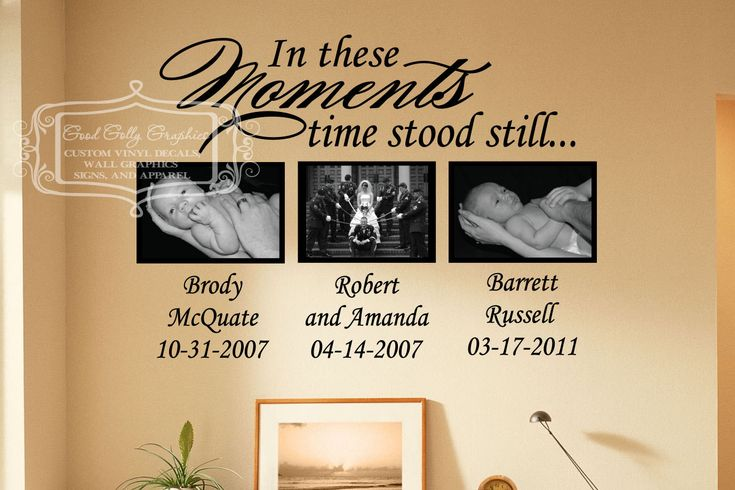In these moments time stood still vinyl wall by GoodGollyGraphics, $28.00