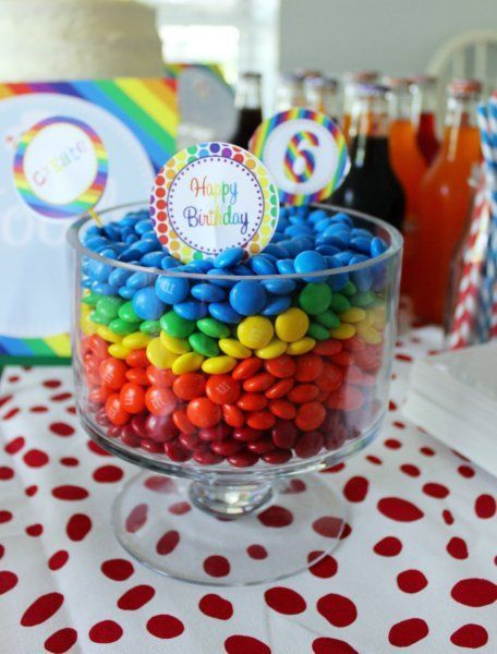 Rainbow Art Birthday Party Food - | http://sweetpartygoods.blogspot.com