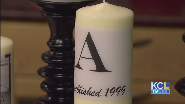 KCL - How to make personalized candles this could be super cute for some centerpieces.