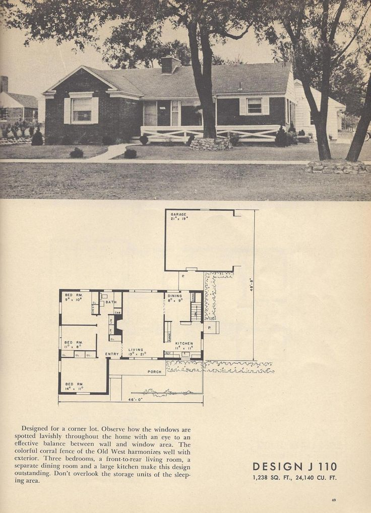 2960 best images about mid 20th century on pinterest for 1950s house plans