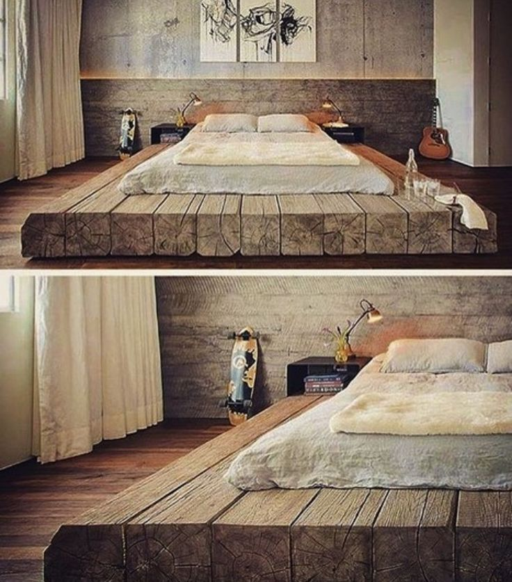 Podium bed made of antique wood. So …