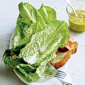 Lime Caesar Salad  From: coastalliving.com  Via: myrecipes.com  Just add some grilled chicken and have a meal.