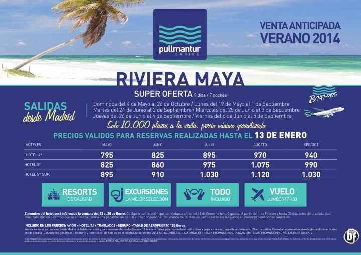 Ampliación Venta Anticipada Riviera Maya Verano 2014 ultimo minuto - http://zocotours.com/ampliacion-venta-anticipada-riviera-maya-verano-2014-ultimo-minuto/