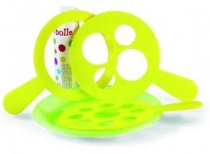 bolle, bolle bolle! grandi, piccole e colorate dai riflessi del mondo intorno! fare le bolle piace a tutti: questo kit è l'ideale per tutta la famiglia.