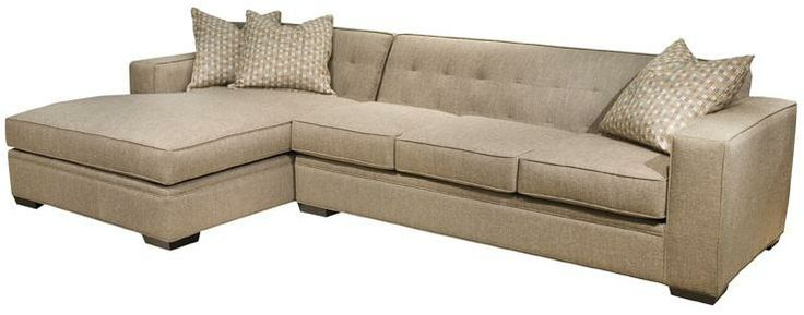 Oscar modern sectional sofa with button tufted back and for Button tufted chaise settee