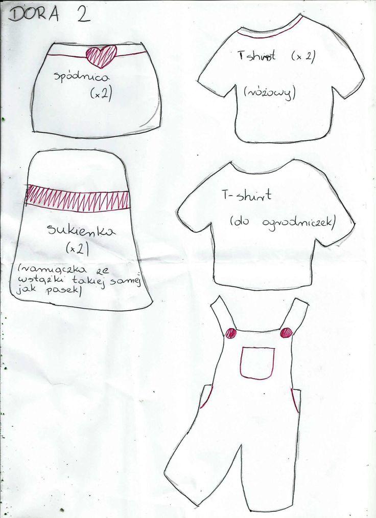Wzór Dora świat poznaje z filcu cz2 ubrania