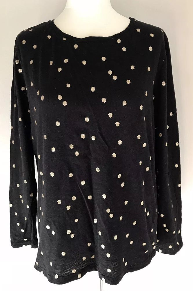 110347e36cdb9d Boden womens black gold spotted 100% cotton top size L #fashion #clothing  #shoes #accessories #womensclothing #tops (ebay link) | Tops in 2018 |  Pinterest ...