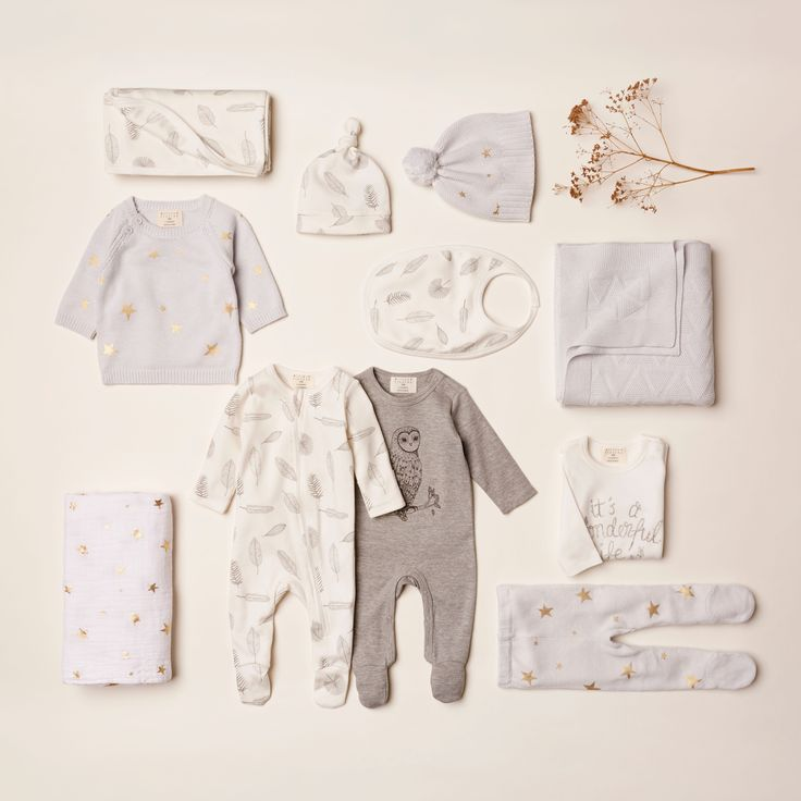 Keep your newborn baby warm and snug with a few of our onesies, hats and muslin wraps. #hospitalessentials #newborn #swaddle #muslin wrap