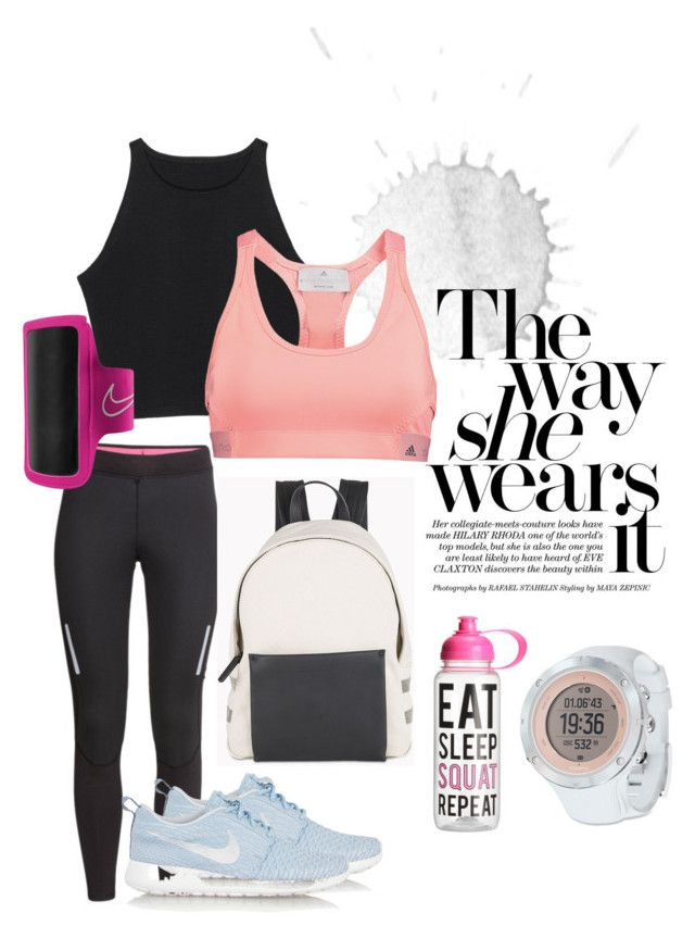 My style | sport by neeacamillaa on Polyvore featuring H&M, adidas, NIKE, Brunello Cucinelli, Suunto, women's clothing, women's fashion, women, female and woman