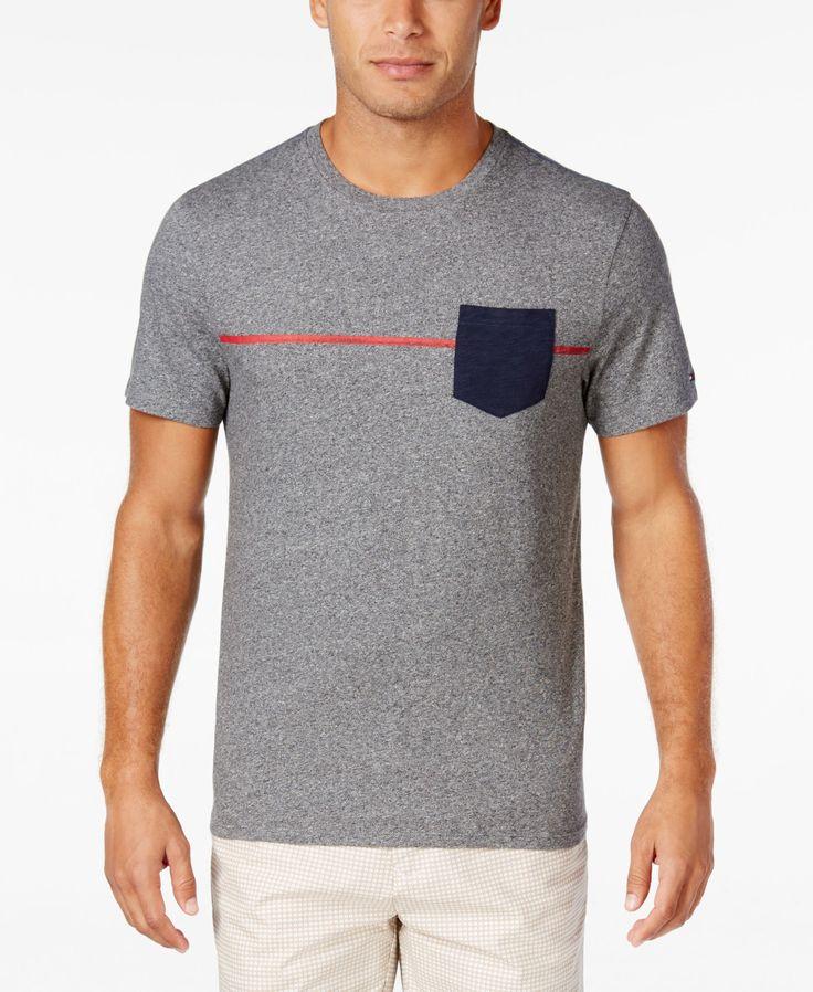 Tommy Hilfiger Men's Red Line Pocket T-Shirt