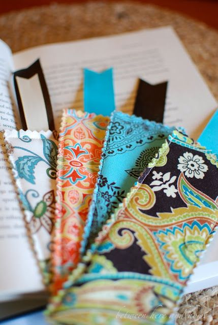 Between Here And Home: Fabric Bookmarks  (Fusible, pinking, sew around)