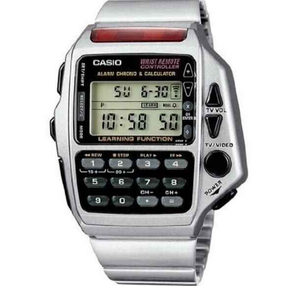 Casio calculator TV remote watch