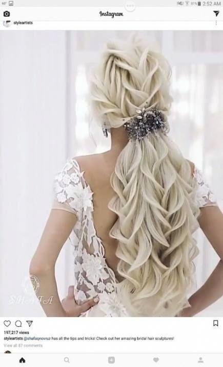 Hair Prom Long Pony Tails 29+  Ideas #hair #braidedupdosprom