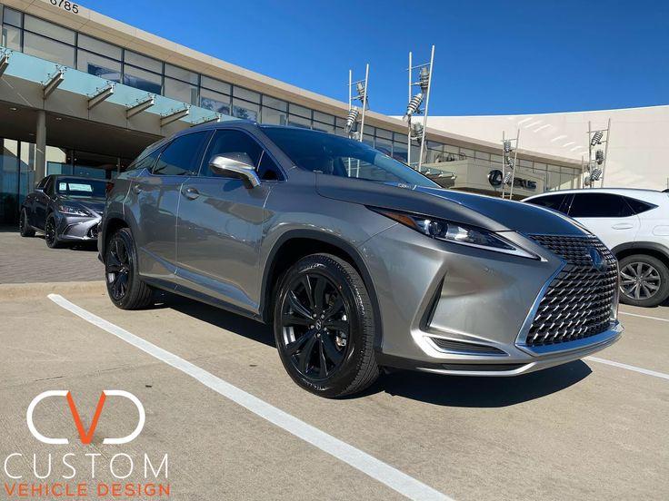2020 Lexus RX350 with factory satin black wheels 2020
