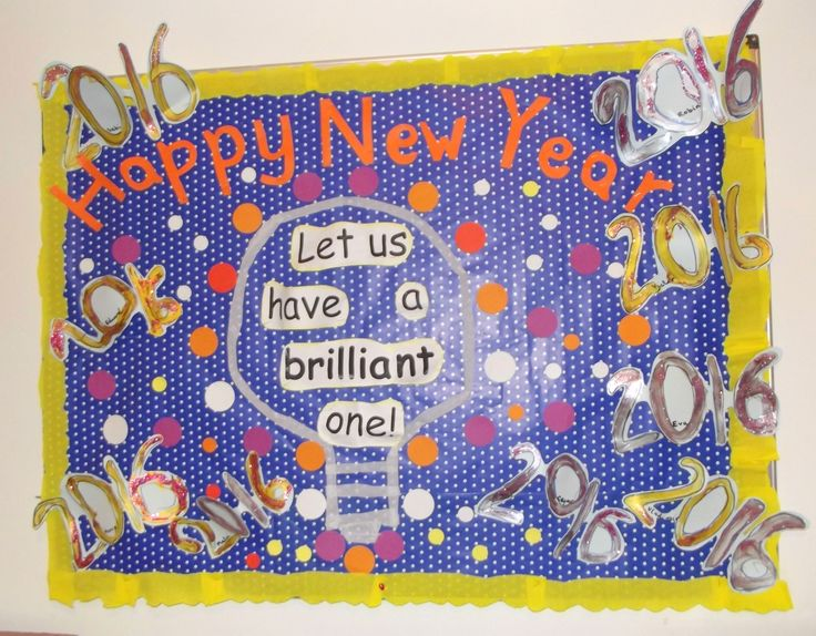 Let us have a brilliant New Year! in Rainbows (age 4-5), revising numbers display@AcornsNursery