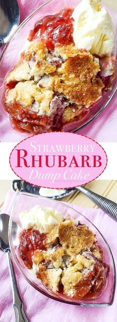 Only the perfect Summer treat with the magical Strawberry Rhubarb Dump Cake recipe. It gives you the magic of a Strawberry Rhubarb Pie, in the fun cobbler form, but much easier to make with a dump cake!
