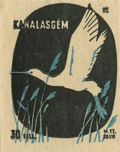 https://flic.kr/p/66n8Fm | hungarian matchbox label