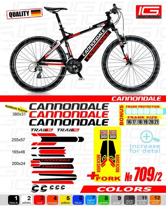 Cannondale decals stickers sheet cycling, mtb, bmx, road, bike PRINTED