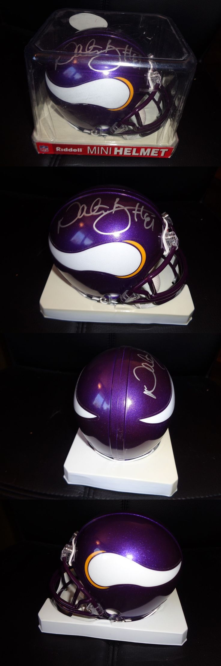 Helmets 73402: Nate Burleson Autographed Riddell Mini Helmet Minnesota Vikings -> BUY IT NOW ONLY: $34.99 on eBay!