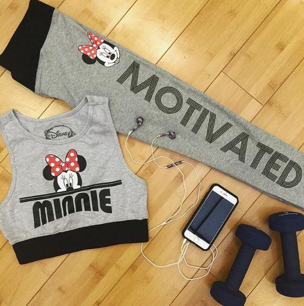 Ready for some Minnie motivation? // Disney Minnie Mouse Low Impact Sports Bra