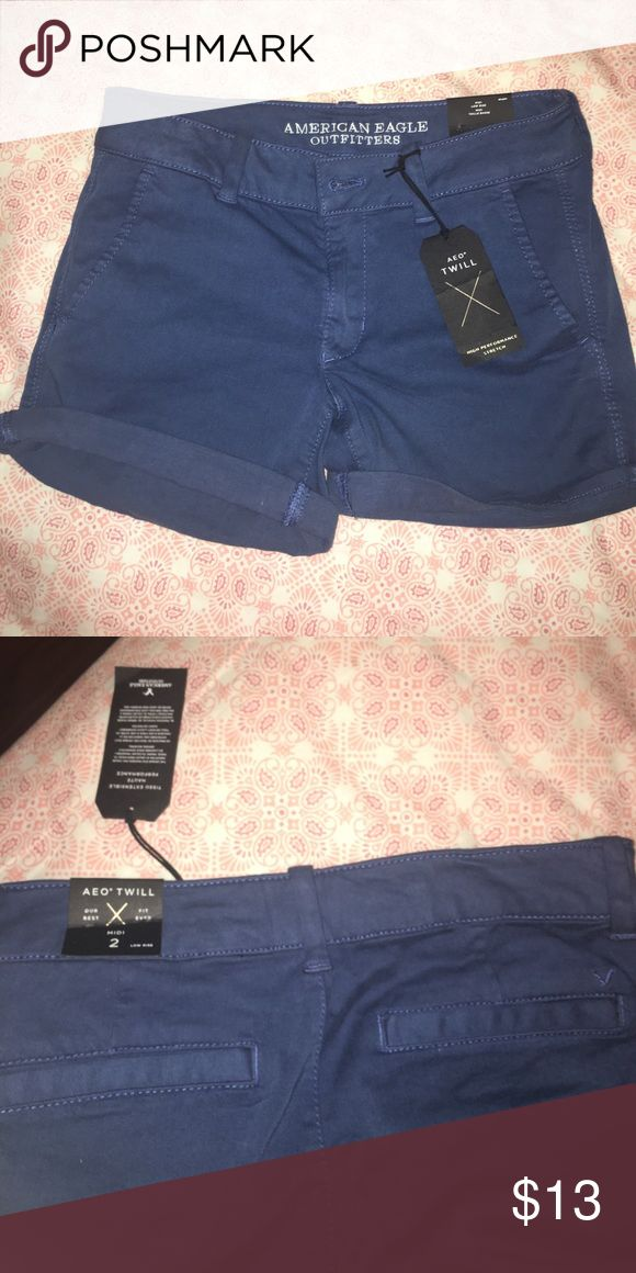 American Eagle Jean shorts these shorts are guaranteed to make your booty pop ❗️ Size 2 stretchy material. Fits me and I am a size 0/1. New with tags. Retails $25 each online right now. American Eagle Outfitters Shorts Jean Shorts