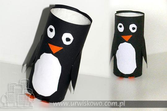 Pingwin z rolki po papierze toaletowym ~ URWISKOWO