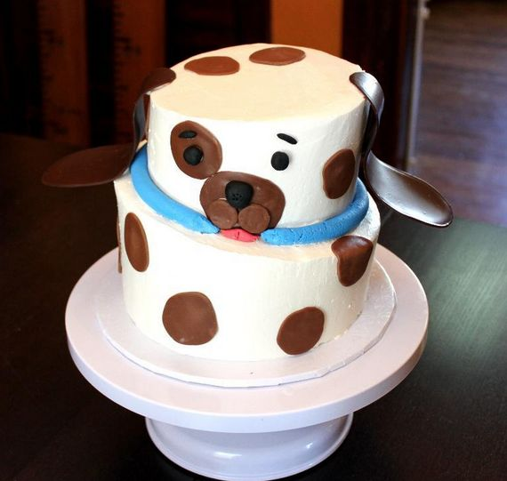 Cute and simple dog cake cake stuff pinterest cake for Cute simple cakes
