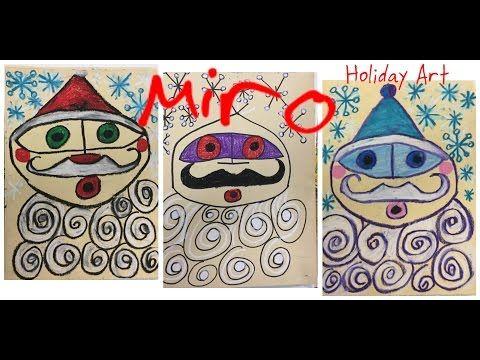 The Master's Holiday Art: Joan Miro Santa - YouTube