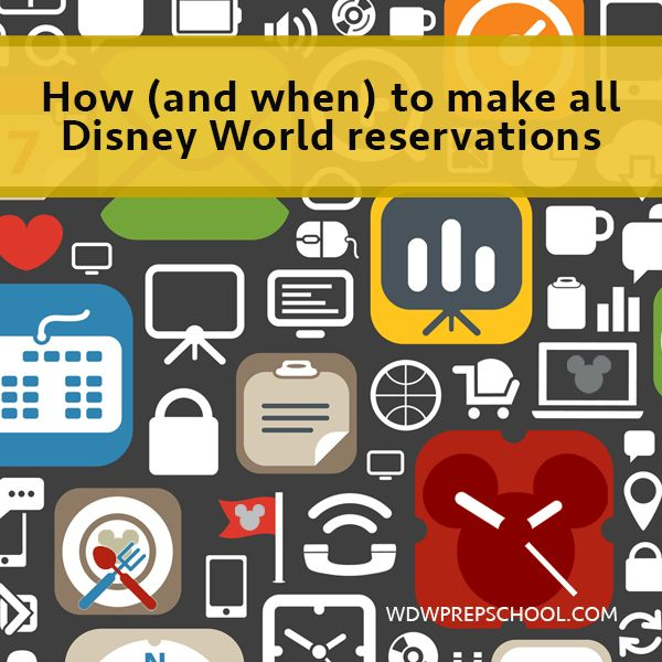 How and when to make all Disney World reservations | WDW Prep School