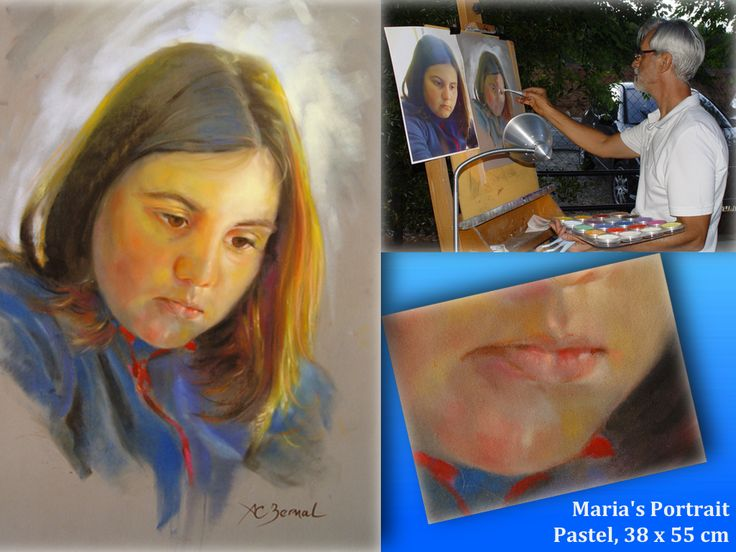 "The weekend is fast approaching, and once again I will be portrait painting at ""El Chiringuito"" in Castañar de Ibor, Spain. You are welcome to come by if you are in the neighbourhood!"