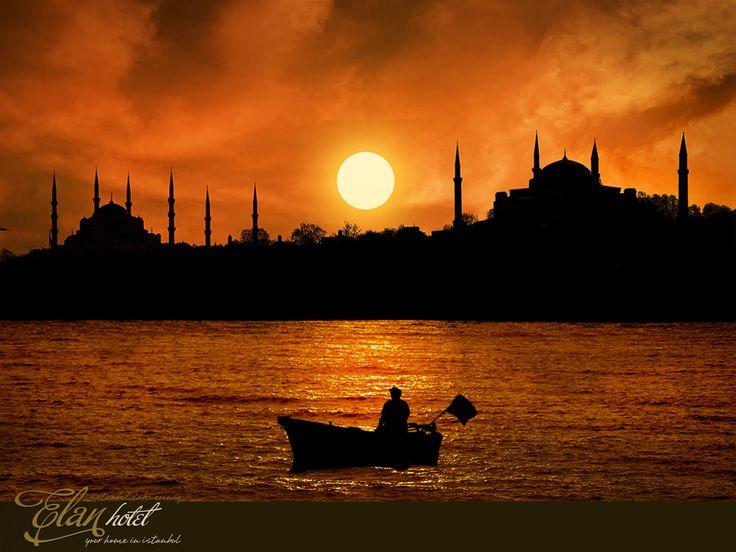 Her gün batımı ayrı bir hikaye anlatır bu şehirde :))  #elanhotelistanbul #istanbul #turkey