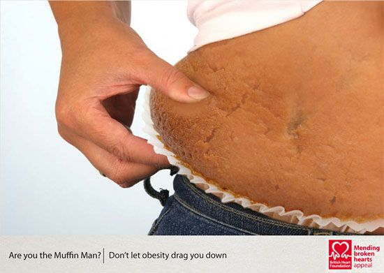 Graphic Design: Anti-obesity campaign by Dale Parkes