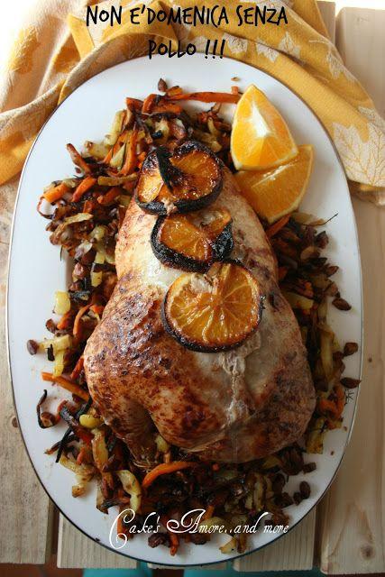 Il pollo con tritato di maiale dei nebrodi e arancia   con gratin di carote, patate e mandorle tritate  gravy aromatizzato all'arancia di Patrizia