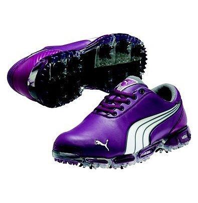 mens purple puma golf shoes