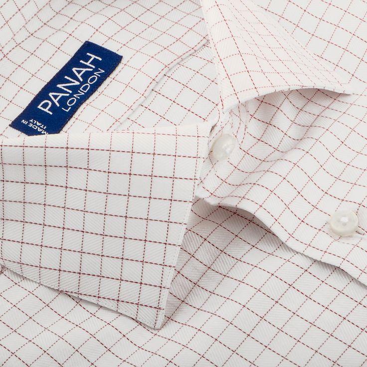 Wine Red Check Luxury Shirt | Jermyn Street Shirts | Bespoke Shirts London