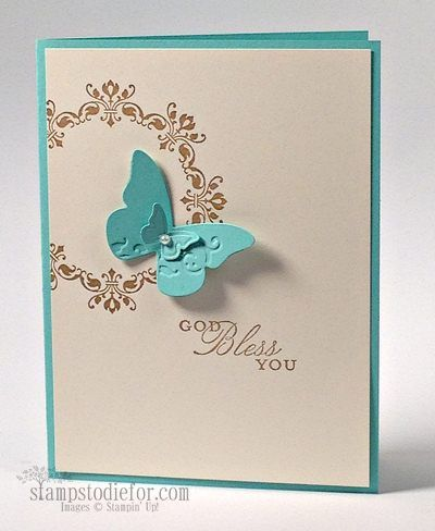 Daydream Medallions - Stamp Set:  Daydream Medallion, Trust God  Paper: Very Vanilla and Coastal Cabana Cardstock Ink:  Baked Brown Sugar, Coastal Cabana  Classic Ink Pads Other:  Beautiful Wings Stampin' Up! Embosslits Die