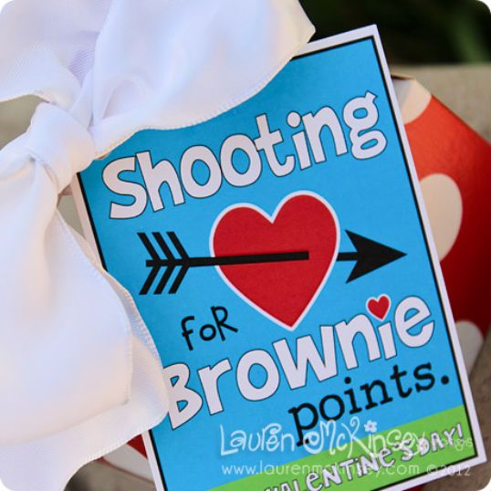 Shooting For Brownie Points Valentine S Day Brownies Cute For