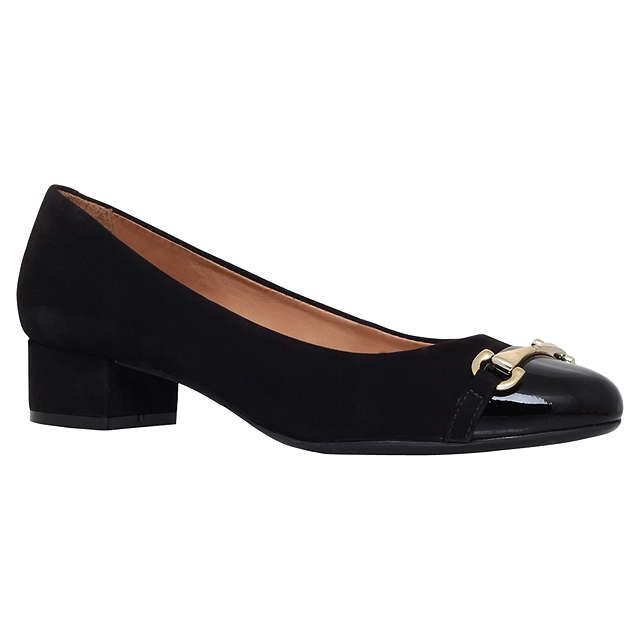 BuyCarvela Comfort Annie Block Heeled Pumps, Black Suede, 3 Online at johnlewis.com