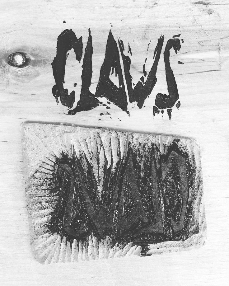 Made a linoleum print to sign stuff with. #linoleum #linoleumprint #print #signature #graphicart #claws #clawscreations