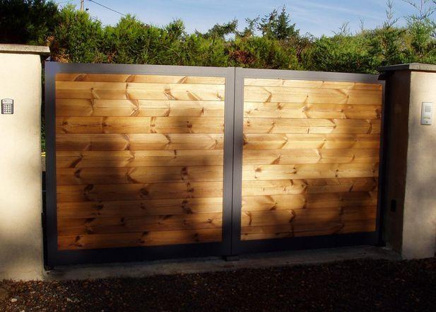 M s de 1000 ideas sobre portail aluminium en pinterest for Portillon bois plein