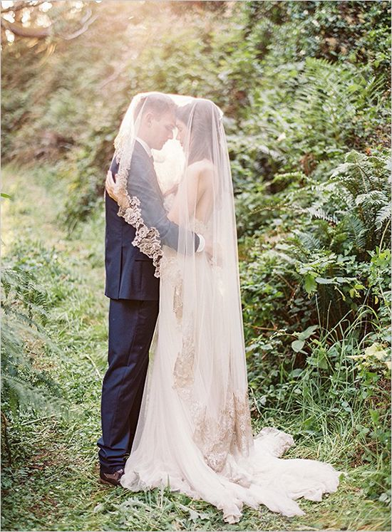 Cathedral veil champagne wedding dress beach wedding for Veil for champagne wedding dress
