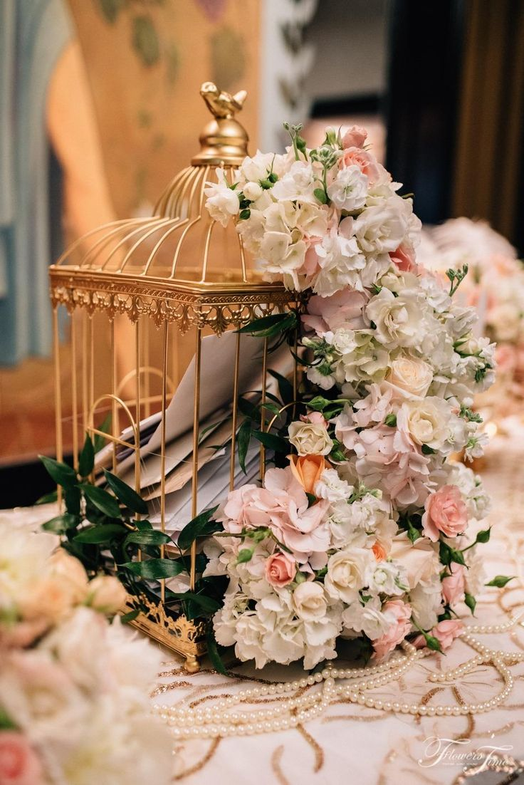 Gatsby style reception idea flower cage #toronto