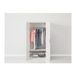 STUVA Storage combination with doors, white, white - 60x50x128 cm - IKEA