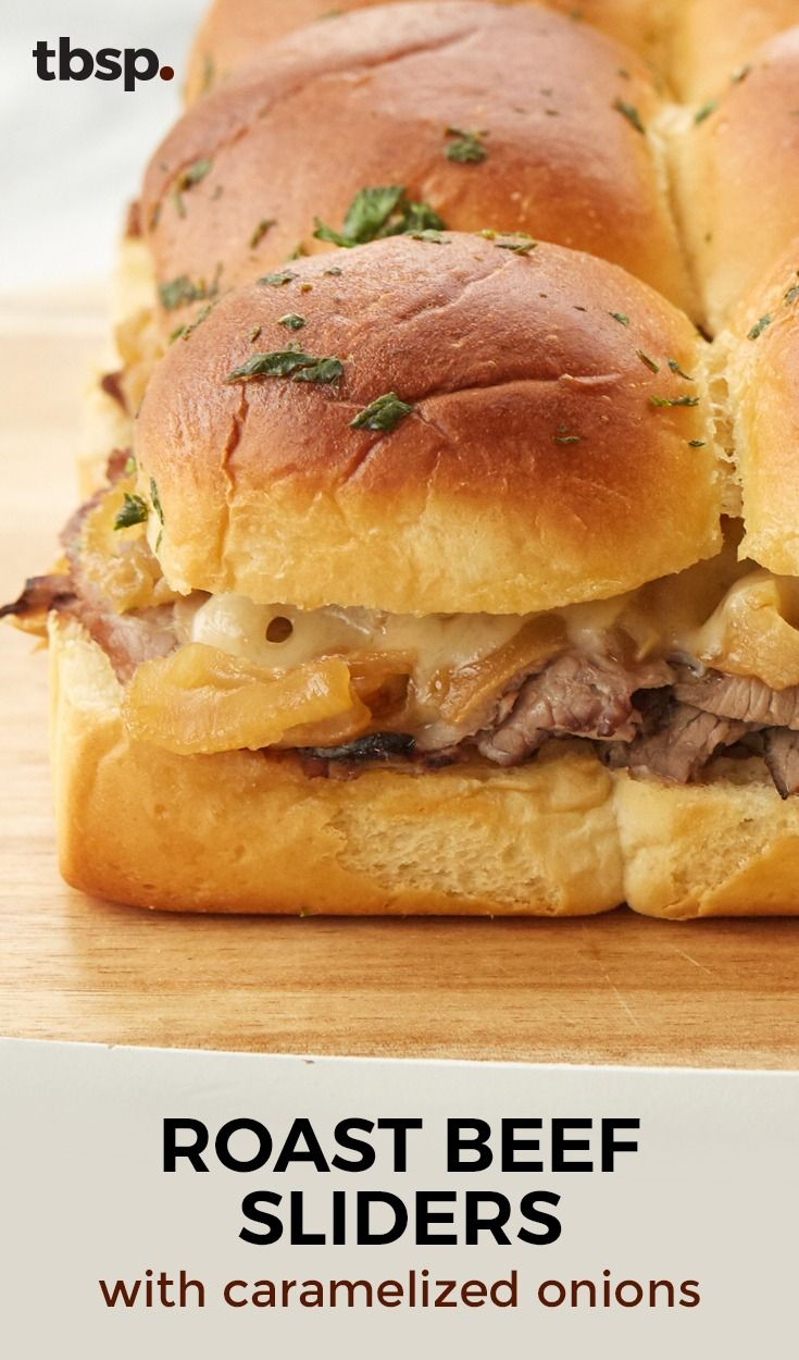 If the piles of tender roast beef on top of pull-apart Hawaiian rolls don't get you, the combination of caramelized onions, horseradish mayonnaise and Swiss cheese will. Basically, you need this sandwich bake in your life, and you need it now.