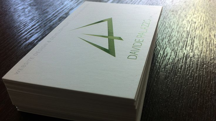 Business cards for Davide Palazzo (matte with spot UV)